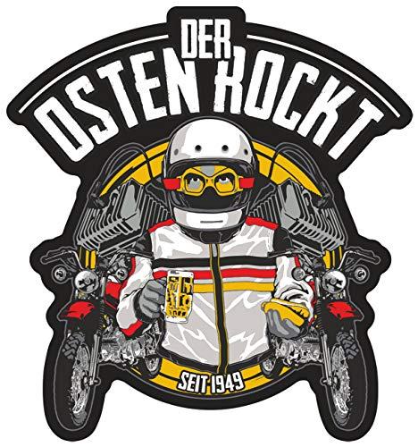 Aufkleber Wetterfest Der Osten rockt 10 cm oder 40 cm ostdeutschland DDR Moped