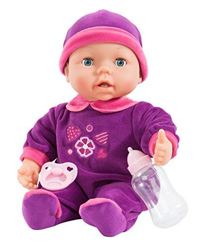Bayer Design 93842 - Funktionspuppe Magic Teeth Baby - ihr wächst ein erster Zahn, inklusiv Fläschchen und Schnuller, 38 cm Test
