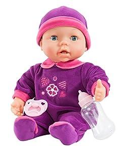 Bayer Design - Magic Teeth Baby, muñeca bebé, color lila (93842)