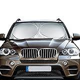 ▶ Specifiche: ◀   Materiale: Nylon 190T  Colore: Argento  Montaggio:  Universale Dimensioni: 160 x 86cm (62X34 inch)  ▶ Caratteristiche: ◀   - Aumentare il comfort durante la guida sotto il sole, il calore si riduce . - La macchina ombrello ...