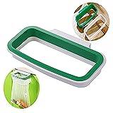 namgiy Mülleimer, aus Kunststoff, zum Aufhängen, Abfalleimer, Papierkorb, für Küche Schrank Heckklappe Ständer Aufbewahrung 12.5 x 22cm grün