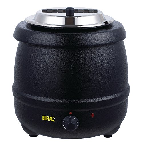 51dAfFhqm0L. SS500  - Buffalo Black Soup Kettle 10Ltr/360X345mm Stainless Steel Electric Jug
