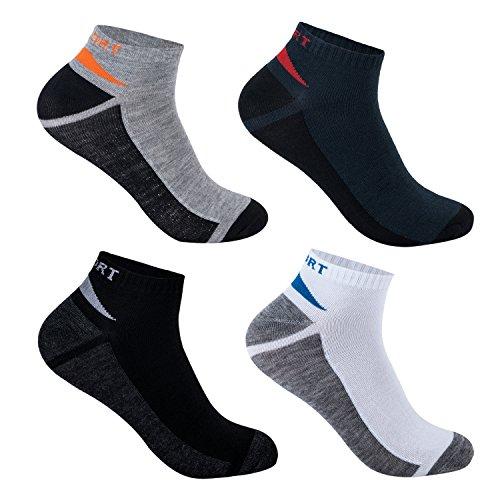 L&K-II Pack de 12 Calcetines de deporte Sneaker Cortos para hombre multicolor 92254 39-42
