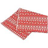 Souarts Style Noël Textile Tissu Coton Lin pr Diy Patchwork Couture Rouge 100x50cm