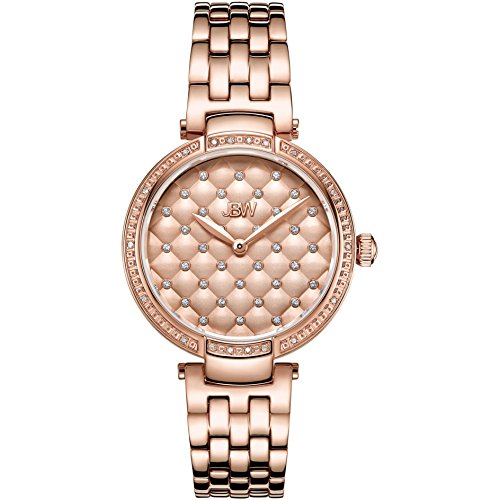 JBW Women's Gala Diamond 34mm Swiss Quartz Rose Gold-Tone Dial Watch J6356A