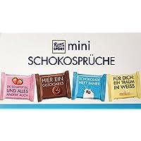 RITTER SPORT mini Schokosprüche Meeting Mix (84 x 16,67 g), 4 leckere Sorten, Erdbeer-Joghurt, Weisse, Kakao-Keks & Alpenmilch, Schokolade mit Sprüchen