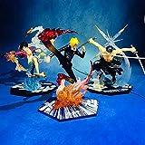 jhsajddaa One Piece Mano per Fare Ornamenti Rufy Nami Bambola Ornamenti Circostante Giocattoli Educativi Modello in Edizione Limitata per Bambini Tre Principale