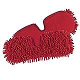 Ersatzmopp Set für Spray-Mopp flexibel rot (Praktischer Wende-Mopp zur Nass- und Trockenreinigung) (2er Ersatzmopset)