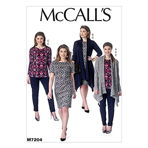 McCall's Patterns M7204 Women's Jacket, Top, Dress and Pants Sewing
