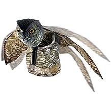 TIFANTI natural espantapájaros falsos búho pest disuasión con las alas en movimiento - aves de miedo