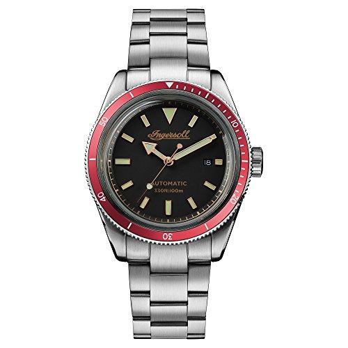 Ingersoll Herren Datum klassisch Automatik Uhr mit Edelstahl Armband I05004