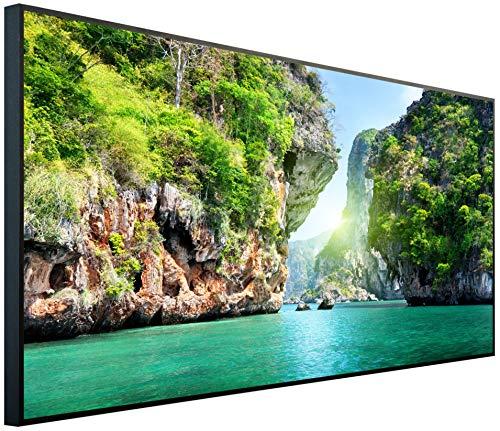 InfrarotPro - Calefacción por Infrarrojos, 750 W, 120 x 60 x 3 cm, Fabricada en Alemania, tecnología Probada, resolución Ultra HD (Haya en Tailandia)