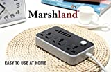 #7: Marshland® New Powerful Charging Series VPE-U01 6 USB Port With 10 A (Max) 3.4A Extention 3 Power Socket Points Charging Station & Overload Protection for All Electronic Equipments
