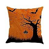 ubabamama Happy Halloween Kissen Bettwäsche Reißverschluss Sofa Kissenbezug Home Dekoration g