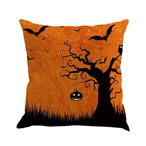 ubabamama Happy Halloween Kissen Bettwäsche Reißverschluss Sofa Kissenbezug Home Dekoration (Verkauf Halloween Dekoration)