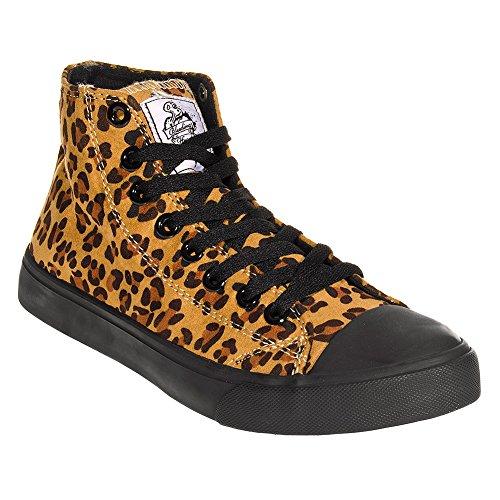 Scarpa Alla Caviglia Bleeding Heart Leopard (Frontale Jeans Aderenti)