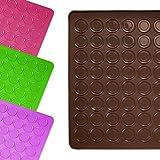 Lumaland alfombrilla molde base de silicona para galletas Macarrons 30 x 40 cm resistente antideslizante en el horno hasta 230 ° C marrón