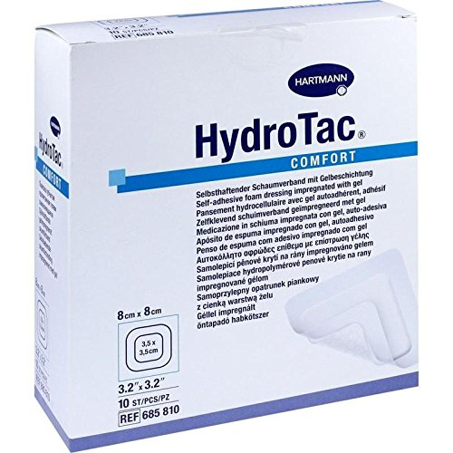 Hydrotac Comfort Schaumverband 8x8 cm Steril, 10 St