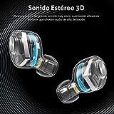 Auriculares Bluetooth, ENACFIRE E18 Auriculares Inalámbricos Bluetooth Mini Twins Estéreo In-Ear Bluetooth 5.0 con Caja de Carga Portátil Y Micrófono Integrado para iPhone y Android