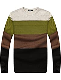 Zicac Pull manches longues Col ronde Multicolore Homme