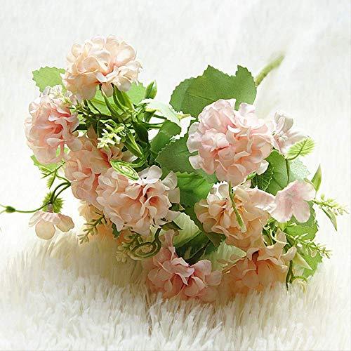 ZHYDNKD Künstliche Blume 9 Köpfe Ball Bund Fürs Simulieren Blumen DIY Wohnkultur Kunstblumen Hochzeitsdekoration Tisch BlumenstraußRosa - Blume-bälle Daisy