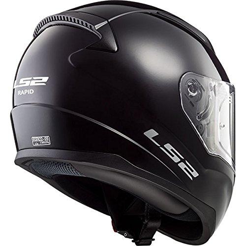 LS2/FF351/Mono Casco Integrale Moto Racing moto scooter Touring Casco Bianco