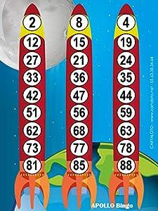CARTALOTO-500 Juegos de Loto, Apollo Bingo, JCAB3F, Multicolor
