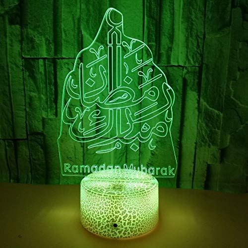 Symbol-drucker-kabel (3D Optical Illusion Lampe LED Nachtlicht, 7 Farben Touch/Fernbedienung Lampe Nachttischlampe Schlafzimmer Tisch Art Deco Kind Nachtlicht mit USB Kabel, Symbol)