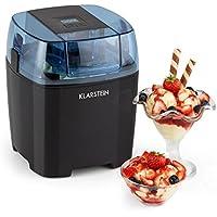 Klarstein Creamberry Máquina de helado •10 W de potencia • Capacidad 1,5 litros • Bajo consumo • Rápida elaboración en 20 minutos • Fácil de utilizar • Apagado automático • Pantalla digital • Negro