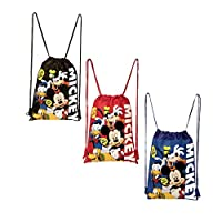 Disney Mickey Mouse and Friends Drawstring Backpacks 3 Pack