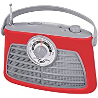 Trevi RA763V–Retro Portable Amplifier Radio Frequency Research Needle–Mains or Battery Powered Rotating–Red