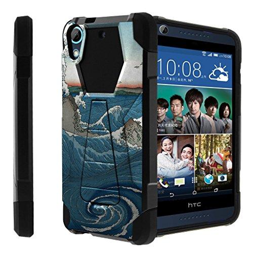 untouchble Schutzhülle für HTC Desire 626, Desire 626s Fall [Traveler Serie]-Dual Layer Hart Kunststoff Innen Silikon Ständer Fall, Zen Wave (Einzigartige Htc Desire Telefon Fall)
