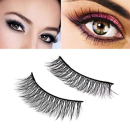 Rrimin Professional Handmade False Eyelashes Soft Fiber Natural Thickening Long Eyelashes Artificial Eyelashe Extension for Makeup Multi-Style Optional (3 Pairs Multilayer 3D Style)