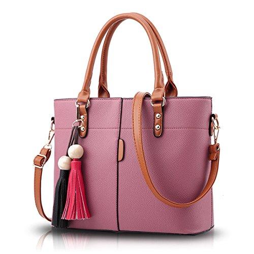 Tisdaini Borse a tracolla diagonali della nappa della traversa della borsa della borsa delle donne che fanno cucitura le borse retro Polvere di gomma