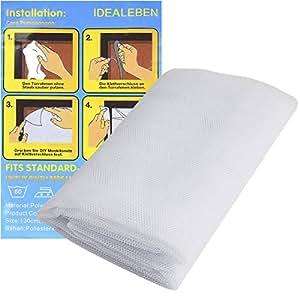 idealeben 2 moustiquaires de fen tre anti insectes mouches avec velcro en maille filet rideau. Black Bedroom Furniture Sets. Home Design Ideas