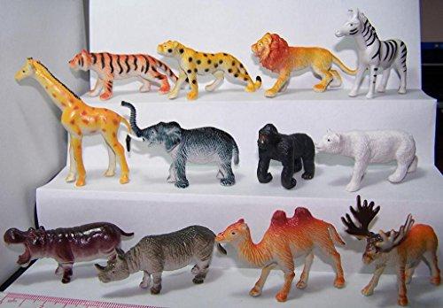 Mini Wild Animals Figur 144Stück, 12verschiedene Designs Hohe Qualität relastic Toys -