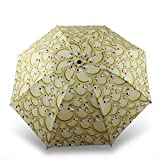 PANGUN Lustige Emoji Regenschirm Anti UV Sonnenlicht Faltung Kompakt Kids Reisen Schirm