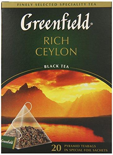 Greenfield Schwarztee Rich Ceylon 2er Pack (2 x 20 Pyramidenbeutel) Tee black Pyramid Tea