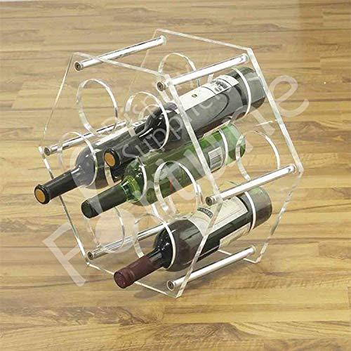 Acryl Plexiglas Wein Halter Wein Wein Wein Display-Ständer Prop Dekoration