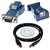 ElectroBot USB to RS 232 Serial DB-9 Adapter Cable with Driver CD Add an RS 232 Serial Port - Black