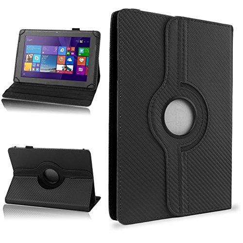 NAUC Schutzhülle für Ihr CSL Panther Tab 10 Hülle Tasche Carbon Cover Tablet Case, Farben:Schwarz