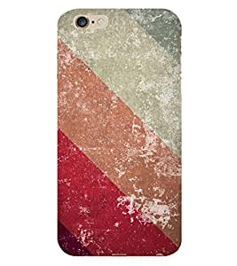 Slant Line Color Pattern 3D Hard Polycarbonate Designer Back Case Cover for Apple iPhone 6 Plus