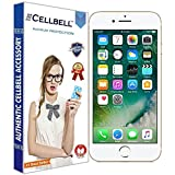 Cellbell Apple iphone 7 9H Premium Tempered glass screen protector with free Installation Kit