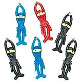 Baker Ross Fliegende Gummi-Ninjas (6 Stück) perfekt als Mitgebsel für Kinder