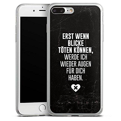 Apple iPhone X Slim Case Silikon Hülle Schutzhülle Sprüche Diss Spruch Silikon Slim Case transparent