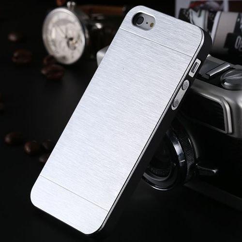 Apple iPhone 5 Case Glitzer Aluminium Handyhülle Metall Cover Blau Silber