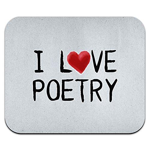 I love Poetry geschrieben auf Papier Maus Pad Mauspad