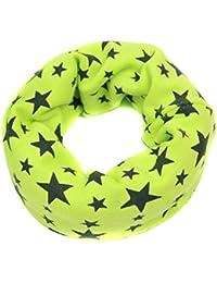 Butterme Enfants Bébé doux peau-friendly coton Neck Warmer Tour de cou Foulard Étoile impression Écharpe mignon pour 1-8 Ans Enfants