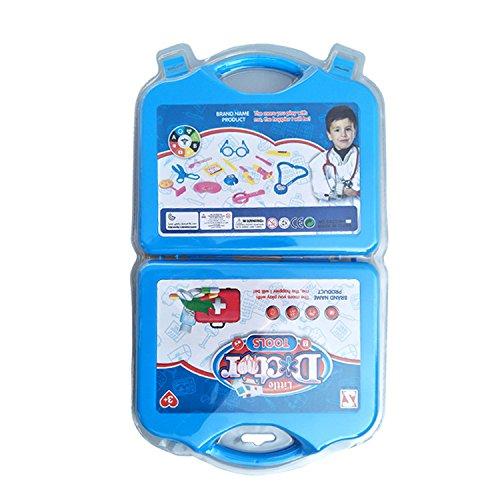 etische Medical Kit Role Play Set Spielzeug Tragbare Simulation Ärzte oder Krankenschwestern Rollenspiel Spielzeug Arzt definiert für Kinder blau (Arzt Kits)