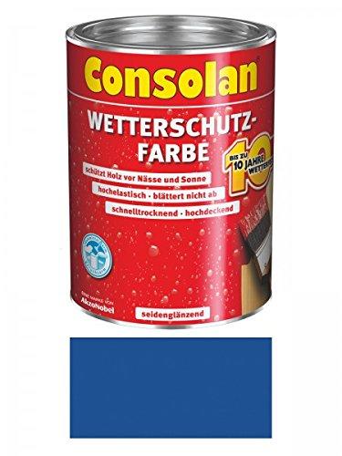 Preisvergleich Produktbild 750 ml Consolan Wetterschutzfarbe, blau Nr. 212